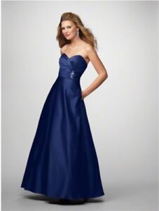 Navy Blue Alfred Angelo Bridesmaids Dress Size 4