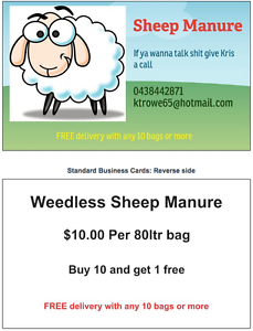 "SHEEP MANURE ..BUY 10 GET & 2 "" FREE "" Mundijong Serpentine Area Preview"