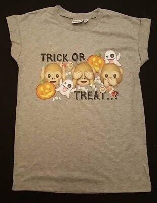 Primark Halloween Top (PRIMARK Ladies Girls Halloween MONKEY EMOJI  IPHONE T Shirt Tee Top UK 6- 14)