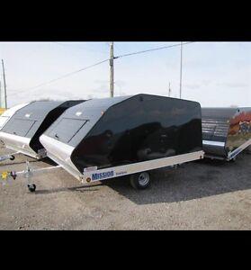 2015 10 foot enclosed tilt snowmobile trailer