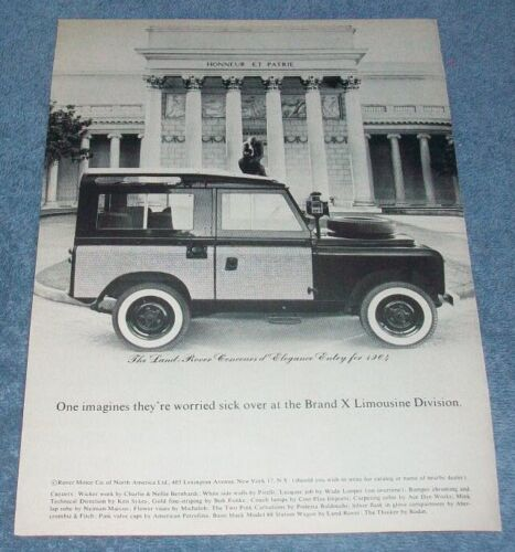 """1964 Land Rover Vintage Ad """"One Imagines They"""