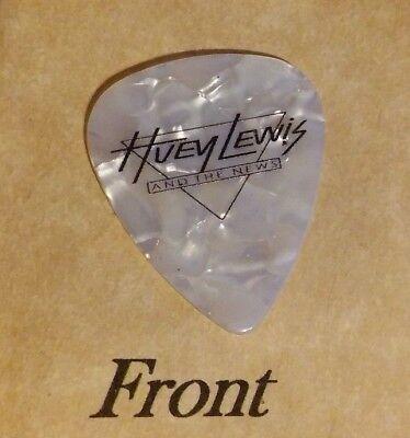 HUEY LEWIS & THE NEWS Band Signature Logo guitar pick  - (W7)