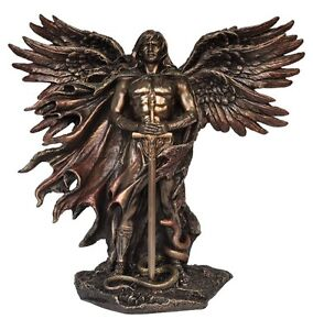 Veronese Bronze Figurine Religious Six winged angel wings Seraph Seraphim