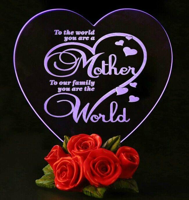 Valentines Day Gift For Mother LED Light Heart Souvenir Mom