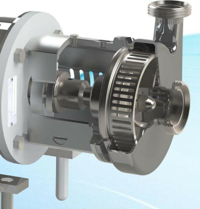 Inline High Shear Mixer, Homogenizer, Emulsifier, Blender, 5 hp, 120 gpm