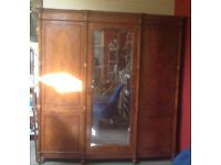 Edwardian satinwood wardrobe