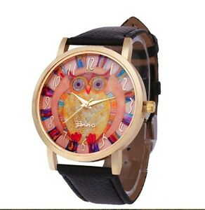 Brand New Cool Owl Watch Black Band
