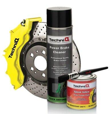 Brake Caliper Paint Kit 250ml SPEED YELLOW GLOSS 260°C + Brake Cleaner + Brush