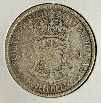 British South Africa 1929 2 1/2 Shilling Half Crown Silver
