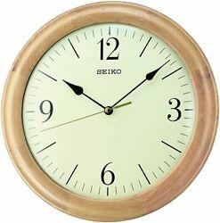 BRAND NEW Seiko Quiet Sweep Wooden Wall Clock QXA497BLH