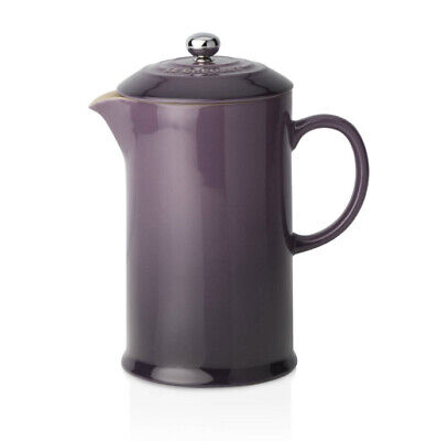 Le Creuset Stoneware Cafetiere with Metal Press 750ml - Cassis (New)