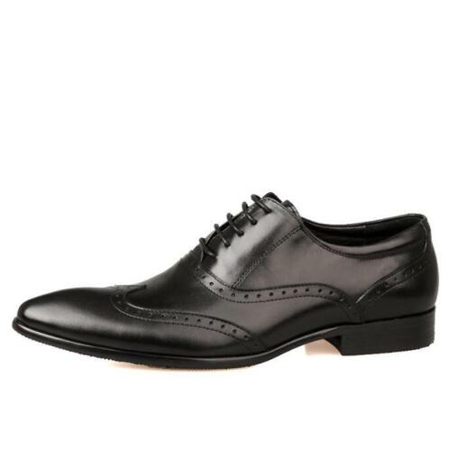 Details about  /Brogue Mens Real Leather Business Leisure Shoes Pointy Toe Oxfords Wedding New L
