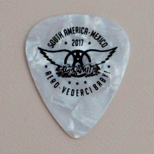 Aerosmith - Rare Joe Perry Guitar Pick Mexico South America Tour 2017