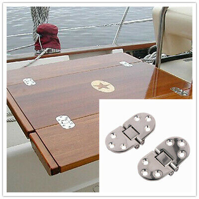 2X Stainless Steel Strap Hinges Door/Table/Cabinet Butterfly Hinges Multipurpose - Hinged Door Table