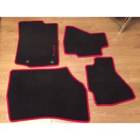 Genuine Toyota Aygo car mats with red trim