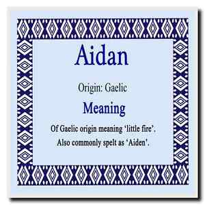 Aidan Personalised Name Meaning Coaster | eBay