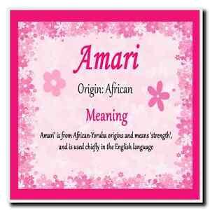 Amari Personalised Name Meaning Coaster