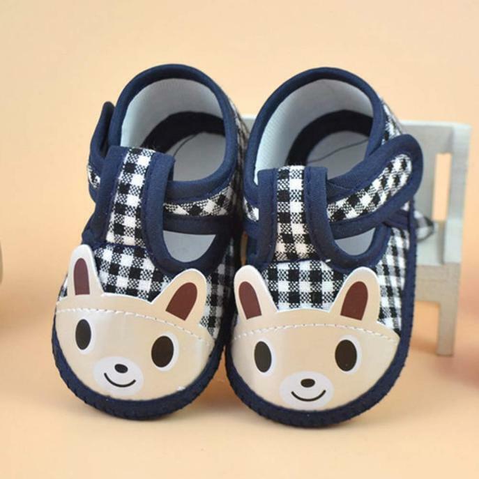 0-3M Newborn Infant Baby Girl Boy Kids Soft Cloth Sole Crib
