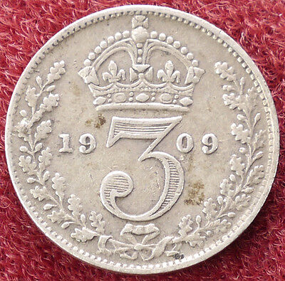GB Threepence 1909 (D1703)