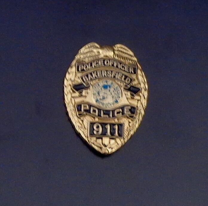 Bakersfield CA California Police Officer Mini Badge Lapel Pin 911