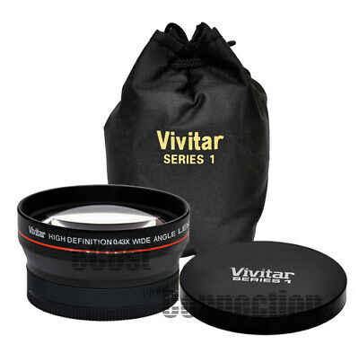 Vivitar 58mm 0.43x Wide Angle Lens for Canon 10D 20D 30D 40D 50D 60D 70D ()