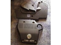 VW GOLF PLASTIC COVERS FOR ENGINE