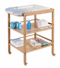 Wooden changing table + mat by Geuther - German design
