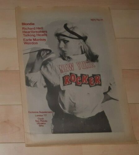 BLONDIE DEBORAH HARRY NY ROCKER ISSUE 9 LATE 1976 RARE AMAZING COVER!!!!