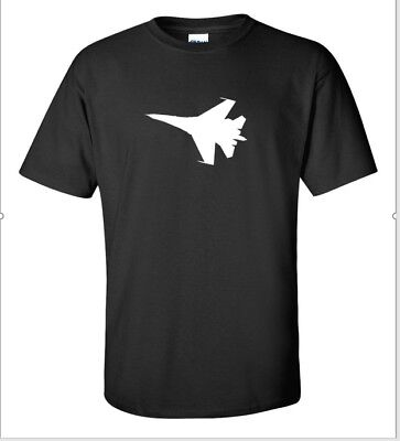 F 35 Lightning War Plane F35 Lockheed Martin Black White Cotton T Shirt S   5Xl