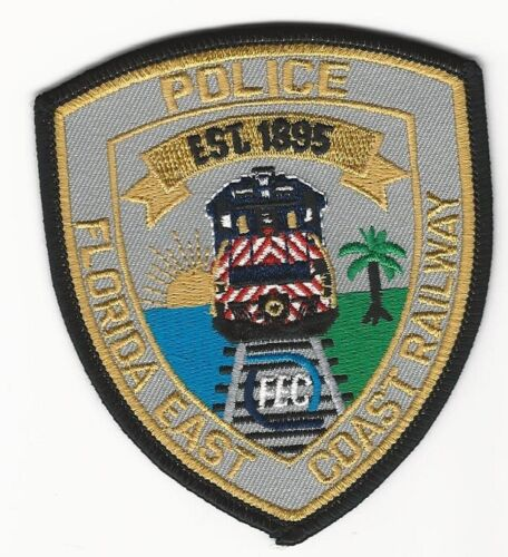 Fla East Coast Railway Railroad Police State Florida FL NEAT
