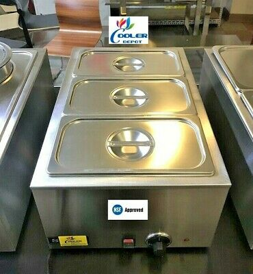 New 3 Pan Electric Warmer Restaurant Buffet Catering Food Server Nsf Mane Marie