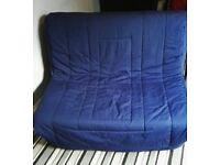 Dark blue 2 seat sofa bed