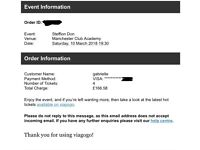 4 stefflon don tickets for this Saturday, manchester academy
