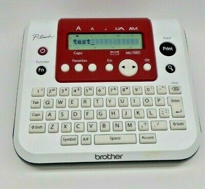 Brother P Touch Label Maker Pt-1280 Whitered