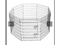 Puppy pen and large dog cage