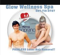 PAINLESS LASER HAIR REMOVAL TREATMENT!!