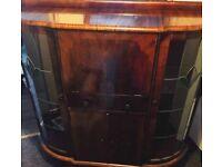 Antique, Vintage Mahogany Bureau/Sideboard/Display Cabinet