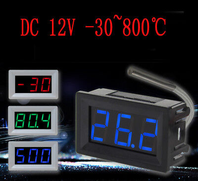 K-type Thermocouple Meter Industrial Digital Thermometer -30 800 Degree