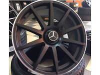 """20"""" staggered mercedes amg style alloys wheels s class sl cls cl ml"""