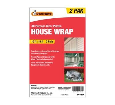Frost King 2p101527 House Wrap 10 Ft. X 15 Ft. Pk2