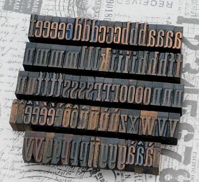 A-z Alphabet 1.06 Letterpress Wooden Printing Blocks Wood Type Vintage Print..