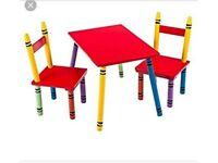 New crayon table