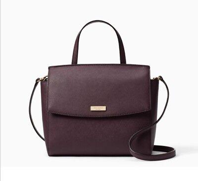 NEW Kate Spade Laurel Way Alisanne Leather  Crossbody Bag Mahogany $398 NWT