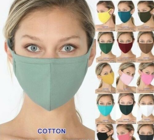 Face Mask Cover Washable Reusable Soft Breathable Cotton *USA*  Buy 2 Get 1 Free