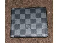 Louis vuitton black square wallet
