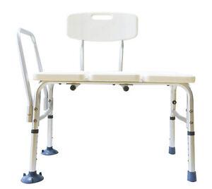 benovate adjustable heavy duty bath tub shower transfer bench stool chair seat