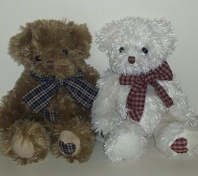 "Job Lot - 12  10"" Vanity Fair Sitting Teddy Bears (2 asstd designs)"