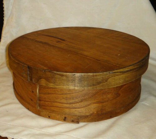 Old Vintage Antique American Primitive Bent Wood Pantry Cheese Box
