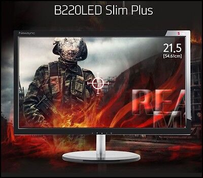 "Bitm - Newsync B220LED SLIM PLUS 21.5"" 1920 X 1080 @ 60Hz FHD/ WIDE 16:9"