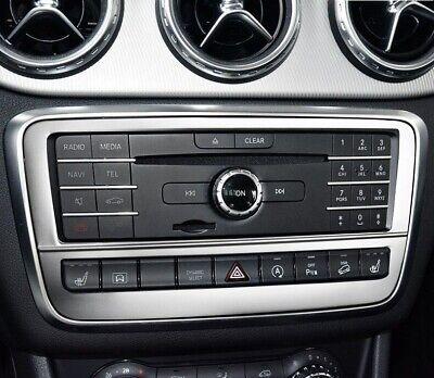 Passend zu Mercedes Benz A GLA CLA Radioblende Zierblende Rahmen Edelstahl